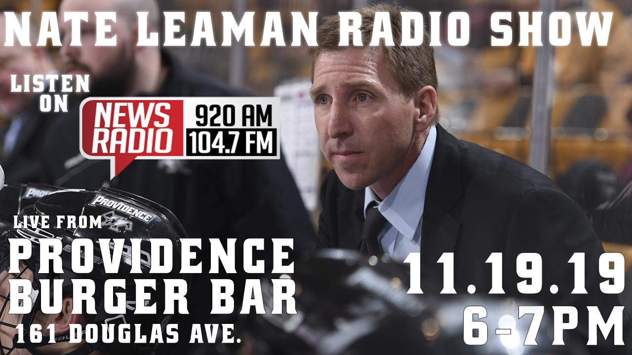 The Nate Leaman Radio Show to Air Live on Tuesday, November 19 from Providence Burger Bar